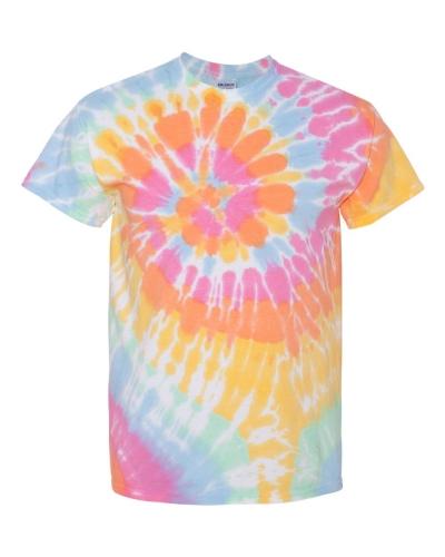 Multi-Color Spiral Short Sleeve T-Shirt