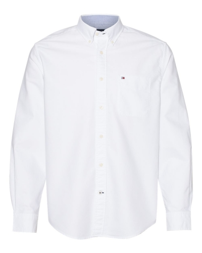 New England Solid Oxford Shirt