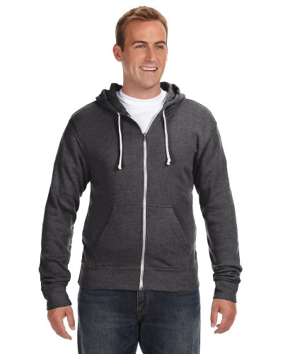 Adult Triblend Full-Zip Fleece Hood