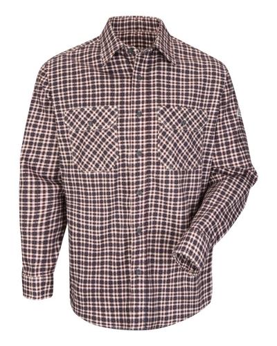 Plaid Long Sleeve Uniform Shirt