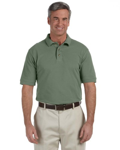 Men's 6 oz. Ringspun Cotton Pique Short-Sleeve Polo