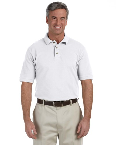 Men's Tall 6 oz. Ringspun Cotton Piqué Short-Sleeve Polo
