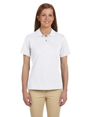 Ladies' 6 oz. Ringspun Cotton Piqué Short-Sleeve Polo
