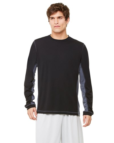 Men's Long-Sleeve Interlock Pieced T-Shirt