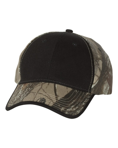Solid Front Camouflage Cap