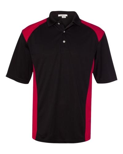 Spirit Racing Colorblocked Moisture-Free Mesh Sport Shirt