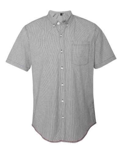 Stretch-Stripe Short Sleeve Shirt