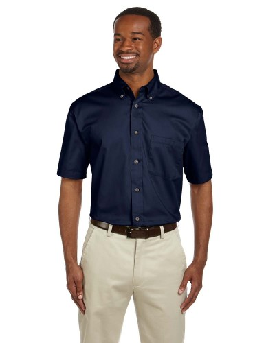 Harriton M500S Men's Easy Blend Twill Shirt with Stain-Release