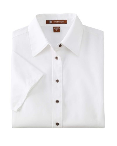 Harriton M500SW Ladie's Easy Blend Twill Shirt with Stain-Release
