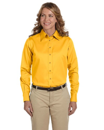 Harriton M500W Ladie's Easy Blend Twill Shirt with Stain-Release