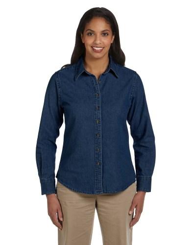 Ladies' 6.5 oz. Long-Sleeve Denim Shirt