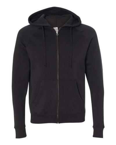 Unisex Special Blend Raglan Full-Zip Hooded Sweatshirt