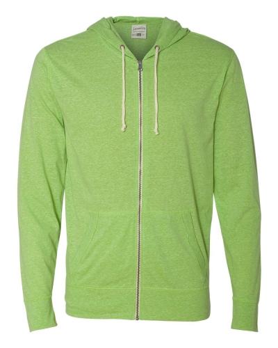 Vintage Twisted Slub Full-Zip Hooded T-Shirt