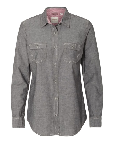 Vintage Women's Chambray Long Sleeve Shirt