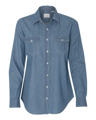 Vintage Women's Denim Long Sleeve Shirt