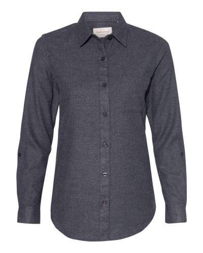 Women's Vintage Brushed Flannel Solid Shirt