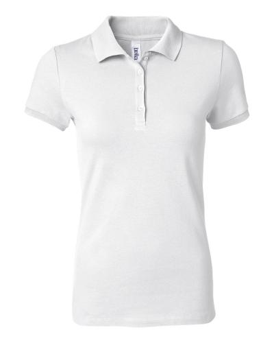 Women's Cotton Spandex Mini Pique Short Sleeve Polo