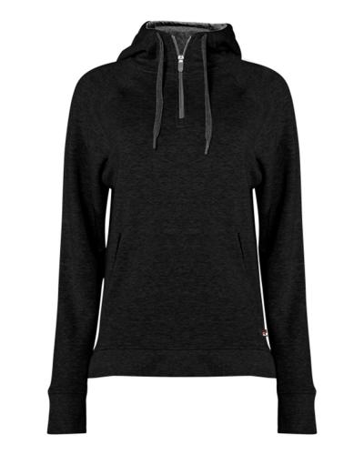 Women's Fitflex French Terry Hooded 1/4 Zip