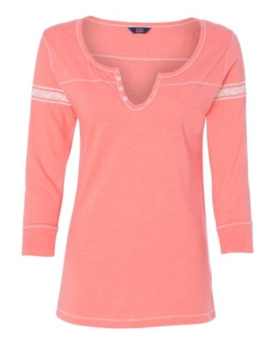 Women's Hailey Henley Three-Quarter Sleeve Shirt