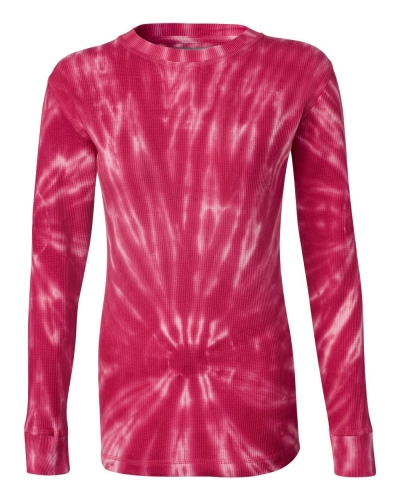 Women's Hannah Long Sleeve Tie-Dyed Thermal T-Shirt