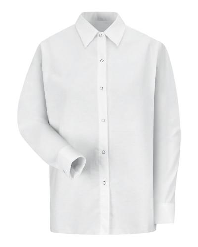 Women's Long Sleeve Specialized Pocketless Poplin Work Shirt