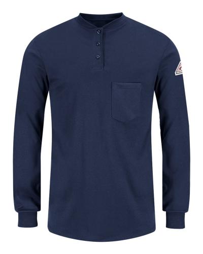Women's Long Sleeve Tagless Henley Shirt