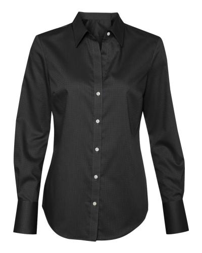 Women's Non-Iron Dobby Pindot Shirt