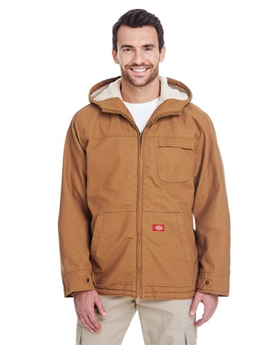 Men's 8.5 oz. Sanded Duck Sherpa-Lined HoodedJacket