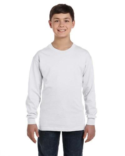 Hanes 5546 Youth Tagless ComfortSoft Long-Sleeve T-Shirt
