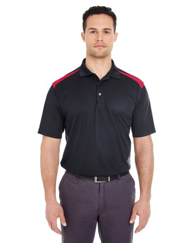 Adult Cool & Dry Two-Tone Mesh Piqué Polo