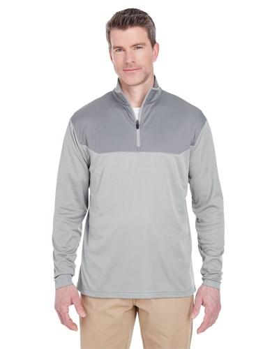 Adult Cool & Dry Sport Colorblock Quarter-Zip Pullover