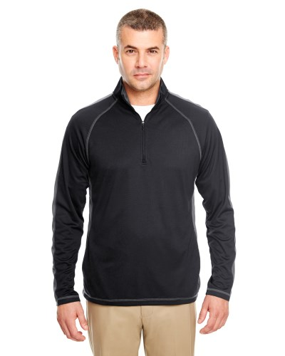 Adult Cool & Dry Sport Quarter-Zip Pullover with Side & Sleeve Panels