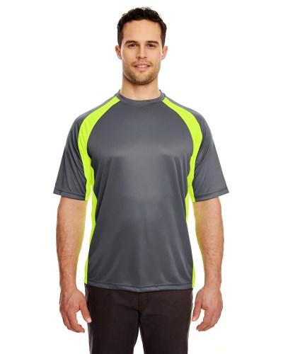 Adult Cool & Dry Sport Two-Tone Performance Interlock T-Shirt