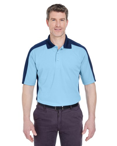 Adult Cool & Dry Stain-Release Two-Tone Performance Polo