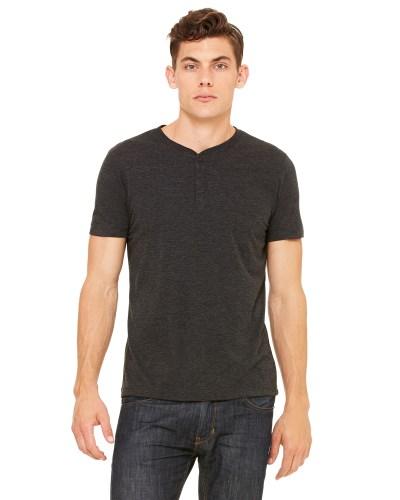 Men's Triblend Short-Sleeve Henley