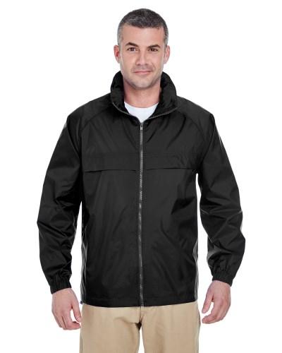 Adult Full-Zip Hooded Pack-Away Jacket