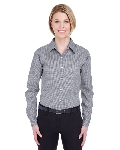 Ladies' Yarn-Dyed Micro-Check Woven