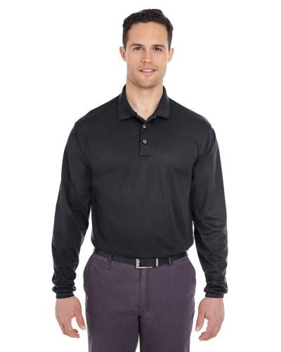Adult Cool & Dry Long-Sleeve Mesh Piqué Polo