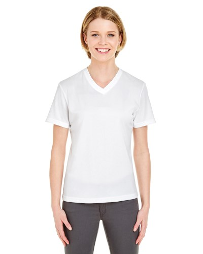 UltraClub 8400L Ladies Cool & Dry Sport V-Neck T-Shirt
