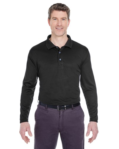 UltraClub 8405LS Adult Cool & Dry Sport Long-Sleeve Polo