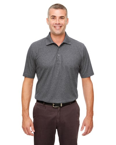 Men's Heathered Pique Polo