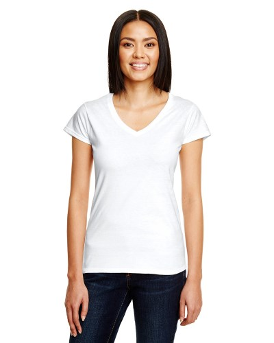 Ladies' Lightweight Fitted V-Neck T-Shirt