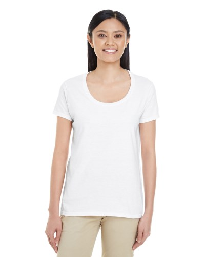 Ladies' Softstyle® 4.5 oz. Deep Scoop T-Shirt
