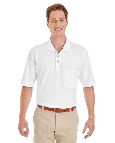 Adult 6 oz. Ringspun Cotton Piqué Short-Sleeve Pocket Polo