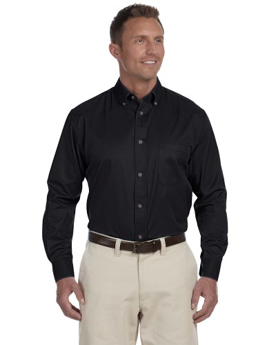 Harriton M500T Men's Tall Easy Blend Twill Shirt with Stain-Release
