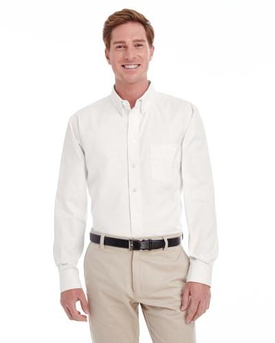 Men's Foundation 100% Cotton Long-Sleeve Twill Shirt with Teflon