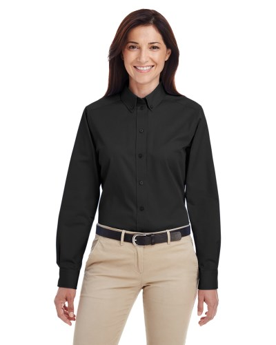 Ladies' Foundation 100% Cotton Long-Sleeve Twill Shirt with Teflon