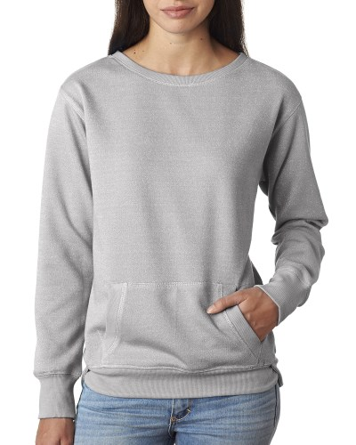 Ladies' Glitter French Terry Crew