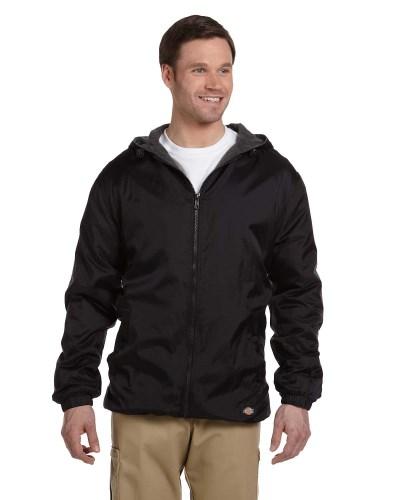 Men's Fleece-Lined Hooded Nylon Jacket