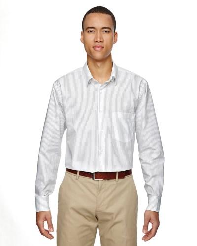 Men's Align Wrinkle-Resistant Cotton Blend Dobby Vertical Striped Shirt